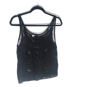 Black Lace Tank Top